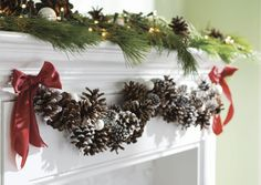 I love this pinecone garland. I don't think it is available on this site but it is a great inspiration piece