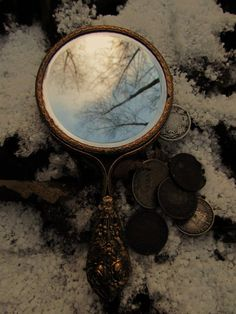 """""""Every mirror is a door... every mirror is a door... but it's too small! I can't..."""" """"Have faith..."""" the wind whispered."""