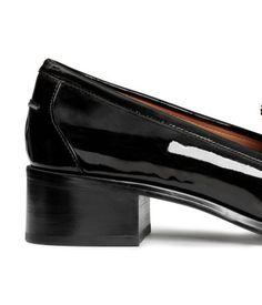 Patent Loafers   Black   Ladies   H&M US
