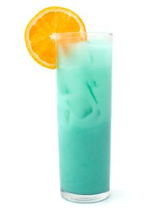Crystal's Blue Lagoon Olympic Cocktail Recipe: 1.5oz Tito's Handmade Vodka, 2oz pineapple juice, .5 oz Coco Lopez, .5oz blue curacao. Shake all and strain into a Collins Glass. Garnish with orange.