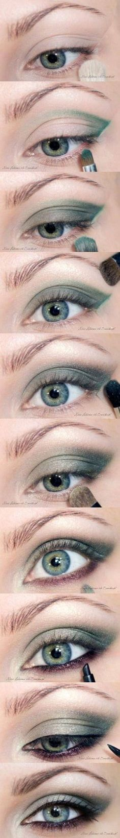 green smokey eyeshadow