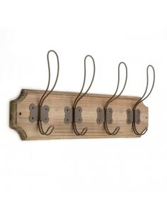 French Farm Wooden Coat Rack