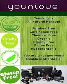 Why choose Younique? Did you know it only takes 26 seconds for chemicals to enter our bloodstream through our skin? Our products are naturally based. Most of our products are considered 100% natural. Choose Younique. Your body will thank you. To order click here… https://www.youniqueproducts.com/ErinWall/products/view/US-1017-00 Visit my Facebook Page at… www.facebook.com/YouniqueByErinWall