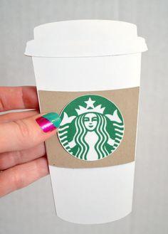 """Thanks a Latte"" Teacher Appreciation Gift Idea - Hand Crocheted Coffee Cozy! -- Tatertots and Jello"