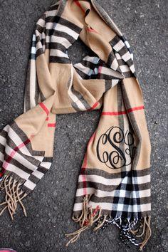 Mimi Monogram Scarf - Camel Plaid #monogram #scarf #plaid #mimisthelook