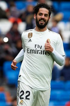 Isco Alarcon of Real Madrid reacts during the La Liga match between Real Madrid CF and SD Eibar at Estadio Santiago Bernabeu on April 2019 in Madrid, Spain. Get premium, high resolution news photos at Getty Images Isco Real Madrid, Isco Alarcon, Real Madrid Players, Invisible Man, Sports Images, Fifa, Football, Guys, Sd