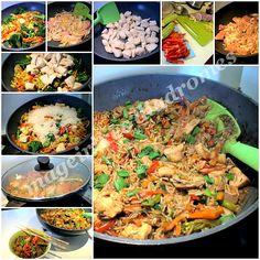 Κινέζικο κοτόπουλο με λαχανικά και ρύζι