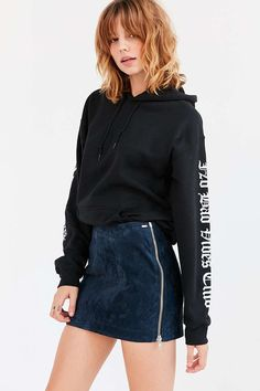 OBEY Nomad Suede Side Zip Mini Skirt - Urban Outfitters