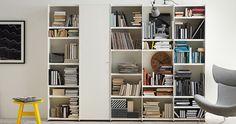 Enjoy tons of storage with this modern bookshelf from #BoConceptMIA