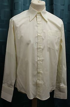 Men's cream 1940's spear #point #shirt wwii reenactment #lindy hop ww2 swing jive,  View more on the LINK: http://www.zeppy.io/product/gb/2/391460575282/