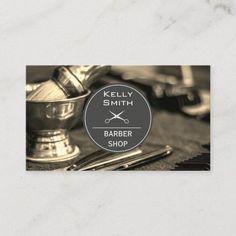 Barber Tools | Wood Trim Business Card Barber Business Cards, Hairstylist Business Cards, Simple Business Cards, Custom Business Cards, Professional Business Cards, Business Card Design, Business Templates, Bering, Shops