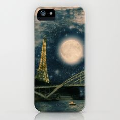 One Starry Night in Paris iPhone Case