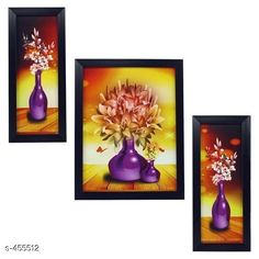 Paintings & Posters Stylish Wall Paintings (Set Of 3) Material: Wood and Plastic Dimension(LxW): Frame 1 - 12.5 in X 5.2 in Frame 2 - 12.5 in X 9.5 in Frame 3 - 12.5 in X 5.2 in Description: It Has 3 Pieces Of Frames With Paintings (Glass Is Not Included) Work: Printed Country of Origin: India Sizes Available: Free Size   Catalog Rating: ★4.1 (3479)  Catalog Name: Spiritual Wall Paintings Vol 10 CatalogID_49658 C127-SC1611 Code: 442-455512-