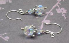 A Winter Ice Storm Swarovski Crystal Earrings | JewelryByLis - Jewelry on ArtFire