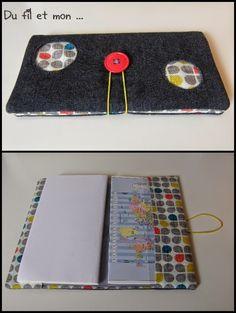2 tutos en 1 : comment faire une pochette agenda ou porte-chéquier et comment faire des ronds...!