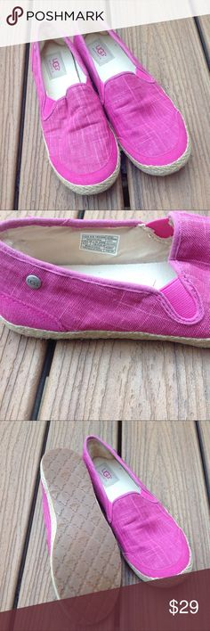 Pink Ugg Shoes Sz 8.5 Pink Ugg slip on shoes in EUC. UGG Shoes Flats & Loafers