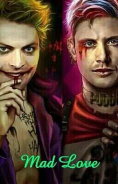 In this au Dean and Castiel are portrayed as the comic book characters The Joker and Harley Quinn! Supernatural Cartoon, Supernatural Drawings, Supernatural Destiel, Castiel, Supernatural Crafts, Destiel Fanfiction, Destiel Fanart, Comic Book Characters, Comic Books