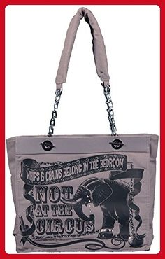 Calico Dragon Whips & Chains Elephant Animal Rights Anti-Circus Vegan Tote Purse - Shoulder bags (*Amazon Partner-Link)