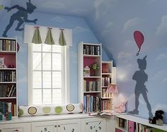 Shadow Wall Decal Like Peter Pan 2 Types for Kids Childs Bedroom or Playroom | eBay