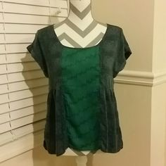 American Eagle Outfitters Top Lightweight 100% rayon with various shades of green and gray. American Eagle Outfitters Tops Blouses