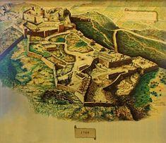 Castillo de Santa Bárbara.......En 1691 la ciudad de Alicante sufre bombardeos que, sumados a los destrozos provocados por la Guerra de Sucesión, afectan de forma determinante a la estructura del castillo. El deterioro continúa hasta el siglo XVIII en que se comienza a restaurar. (Hacia 1709)