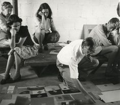 Josef #Albers teaching the color class, Black Mountain #College, summer 1944.