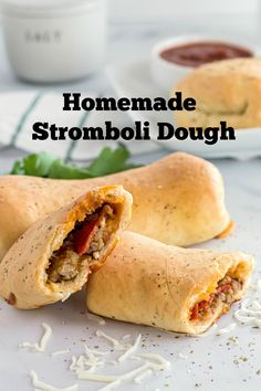 this dough is an absolute dream to work with. Make your own homemade Stromboli Dough with your families favorite fillings. Stromboli Dough Recipe, Homemade Stromboli, Pizza Dough, Italian Recipes, Beef Recipes, Cooking Recipes, Beef Meals, Savoury Baking, Cookies