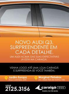 Cliente: Caraigá  e-mail mkt para o lançamento do Audi Q3