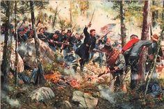 Little Round Top is the smaller of two rocky hills south of Gettysburg.  It was the site of an unsuccessful of Confederate troops against Union troops on the second day of the Battle of Gettysburg.