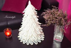 Christmas tree  crochet lace  22 Gift for Christmas by Irenastyle
