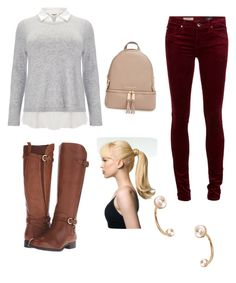 """""""Untitled #27"""" by domenica-colancecco on Polyvore featuring Studio 8, MICHAEL Michael Kors, Naturalizer and Valentino"""