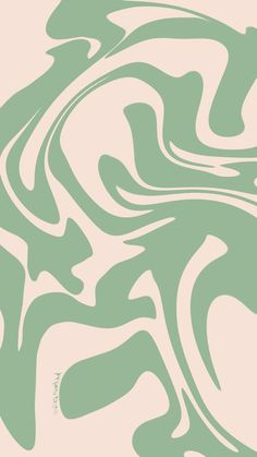 Sage Green & Cream Aesthetic Simple Swirl Background for iPhone & Android + Instagram Story Template