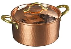 New CopperBull 12MM Thick Hammered Copper Soup Pot Stew Pan Casserole 17 Quart