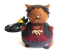 Walking Dead Daryl Dixon Inspired Cat Pincushion by FatCatCrafts, $26.00
