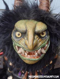 krampus   Handmade Krampus doll   Miss Monster