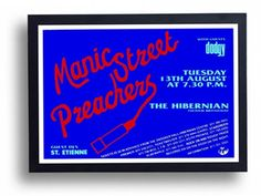 Manic Street Preachers Framed Gig Poster Print by indieprints, $20.00