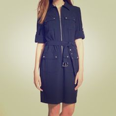 Michael Kors✨  NWT Navy blue, belt tie dress. I love it, but got sick and lost too much weight before I got a chance to wear it  great for professional or casual! Michael Kors Dresses