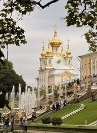 LOVE IT !  --Peterhof, Russia, of course I was there in January and it was covered in snow