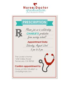 Prescription Invitation for Nurse/Doctor party