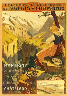 Chemin de fer électrique du Valais à Chamonix, Martigny - Vernayaz - Salvan - Finhauts - Châtelard Edouard Ravel 1906