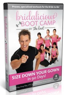 So excited to announce the new DVD! 12 of my best workouts ever on 8 discs. And Bridalicious® workout swag is coming soon - stay tuned!