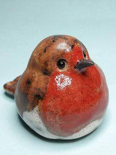 Robin - Ceramic Robin - Christmas decoration - Christmas robin - Garden ornament - plant pot ornament - Grave Decoration -