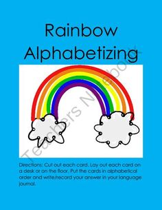 Alphabetizing (Center Activity) from Laila_Camacho on TeachersNotebook.com -  (8 pages)  - These seven hands-on card sets are perfect for children that are learning how to alphabetize.
