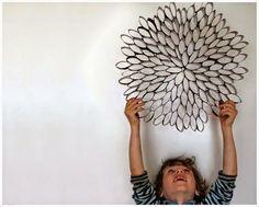 Ideas: Decora tus paredes con rollos de papel higiénico | Decoración