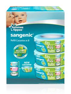 #Tommee Tippee #Sangenic #Hygiene Plus Triple Pack Cassette available online at http://www.babycity.co.uk/