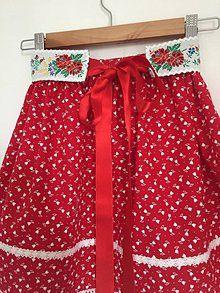 Folklórny komplet / ivapetrovska - SAShE.sk - Handmade Šaty Apron, Skirts, Fashion, Moda, Fashion Styles, Skirt, Fashion Illustrations, Gowns