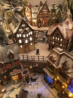 Very effective use of powder snow in this Christmas village display. Very effective use of powder snow in this Christmas village display. Christmas In The City, Christmas Town, Christmas Scenes, Christmas Villages, Christmas Holidays, Christmas Crafts, Merry Christmas, Xmas, Christmas Village Decorations