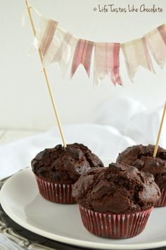 double chocolate muffins. #muffin_pan