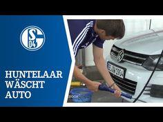 Huntelaar wäscht Höwedes' Auto - YouTube