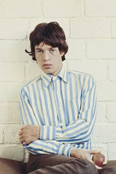 Vintage inspiration - Mick Jagger in classic stripes.